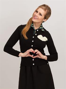 Margot Black Ivory cardigan