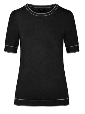 Zilch strik short sleeve black two tone