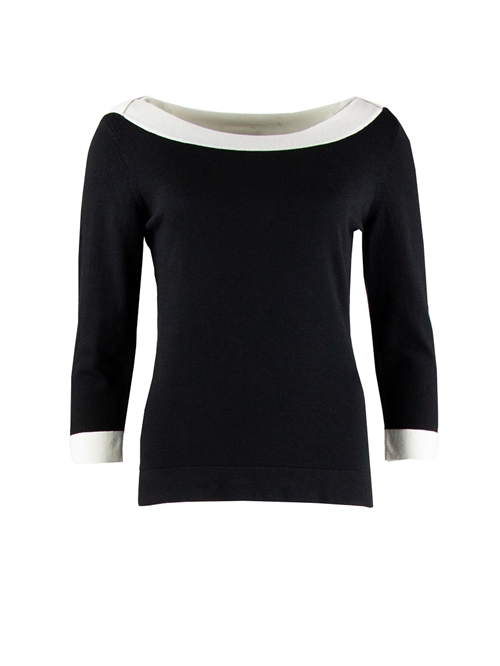 Zilch strik boatneck black two tone