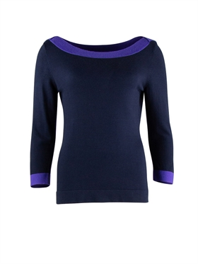 Zilch strik boatneck navy two tone