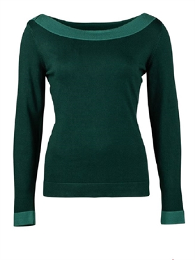 Zilch strik boatneck forest two tone